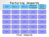 Factoring Jeopardy Game