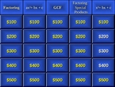 Factoring Jeopardy Review Game
