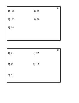 Factoring Ladder Math Cards