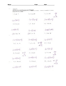 Factoring Lesson 4: Factoring trinomials when a = 1 (AC Method)