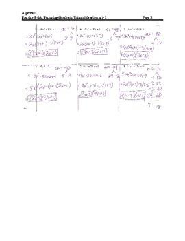 Factoring Lesson 6: Factoring trinomials when a > 1 (AC Method)