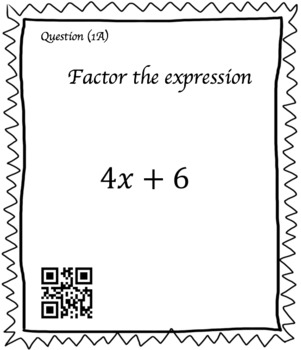Factoring Linear Expressions (30 Task Cards – 3 different levels!)