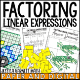Factoring Linear Expressions Activity Pack