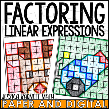 Factoring Linear Expressions Coloring Activity