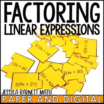 Factoring Linear Expressions Scramble