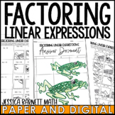 Factoring Linear Expressions Solve and Sketch