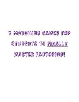 Factoring Matching Games - 7 Games Total!