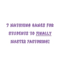 Factoring Matching Games - 7 Games Total!