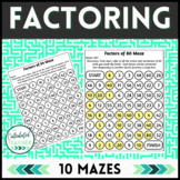 Factoring Mazes - Identifying Factors - 4.OA.B.4 - Digital