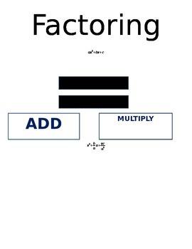 Factoring Visual Aids