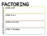 Factoring Note Sheet