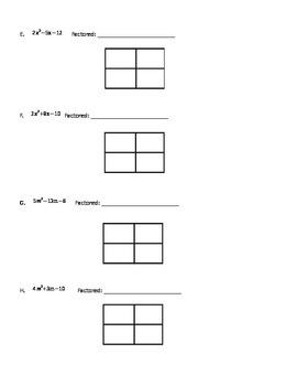 Factoring Notes when a>1