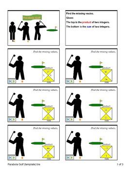 Factoring (Parabola Golf)