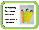Factoring Patterns Cheat Card for Algebra Students