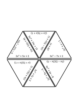 Factoring Polynomials Triangle Puzzle