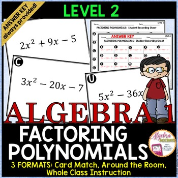 Factoring Trinomials Level 2 Card Match
