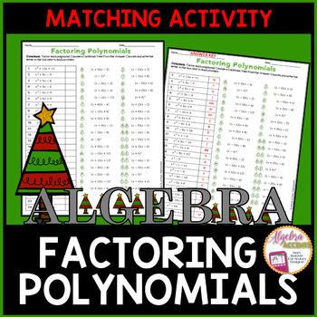 Factoring Polynomials Coloring Activity