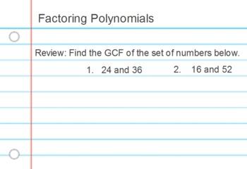 Factoring Polynomials (ActivInspire)