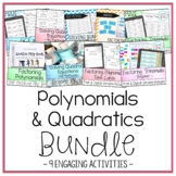 Factoring Polynomials & Solving Quadratic Equations Bundle