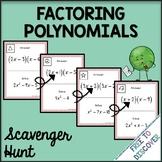 Factoring Polynomials Activity - Scavenger Hunt