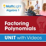 Factoring Polynomials   Algebra 1 Unit with Videos   Good