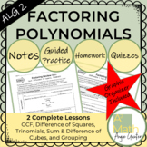 Factoring Polynomials All Methods Complete Lessons
