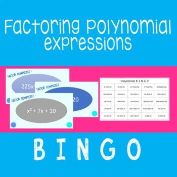Factoring Polynomials BINGO