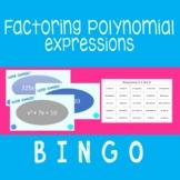 Factoring Polynomials {BINGO} Updated!