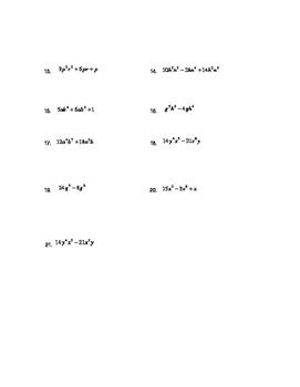 Factoring Polynomials: Basics to Factoring Special Cases