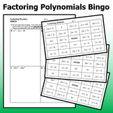 Factoring Polynomials Bingo Game