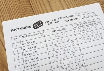 Factoring Polynomials Boot Camp