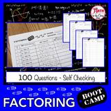 Factoring Polynomials Boot Camp