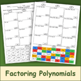 Factoring Polynomials Color Mosaic