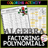 Factoring Polynomials Coloring Activity
