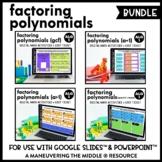 Factoring Polynomials Digital Math Activity Bundle   Algebra 1