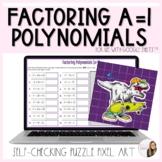 Factoring Polynomials Digital Puzzle Pixel Art Activity