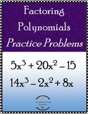 Factoring Polynomials - Digital classwork Activity - Dista