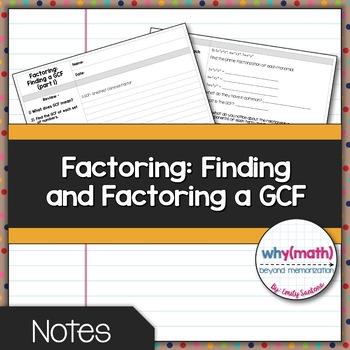 Factoring Polynomials: Factoring out a GCF