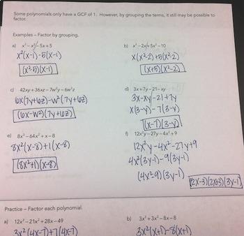 Factoring Polynomials Flipbook By Mrs E Teaches Math Tpt