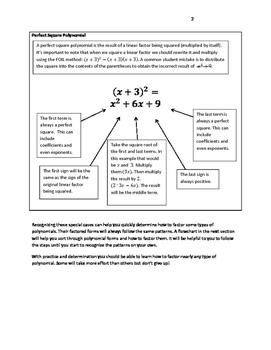 Factoring Polynomials Flowchart Review