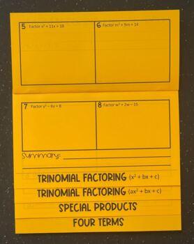 Factoring Polynomials (Foldable)