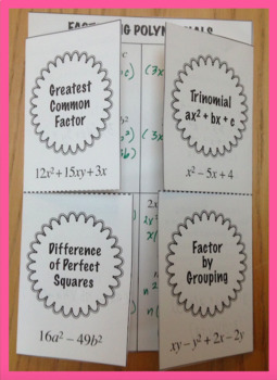 Factoring Polynomials Foldable