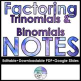 Factoring Polynomials Follow Along Notes