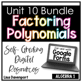 Factoring Polynomials- Digital Assignment BUNDLE for use with Google Forms