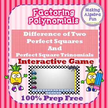 Factoring Polynomials Game Only Difference Of Squares Perfect Square