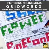 """Factoring Polynomials """"GridWords"""" : FULL SET"""