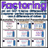 Factoring Polynomials Keynote & Powerpoint Presentation (a