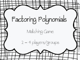Factoring Polynomials Matching Game