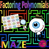 Factoring Polynomials Maze Activity