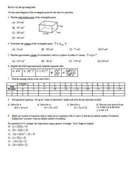 Factoring Polynomials Part 1 for Algebra Spring 2012 (Editable)